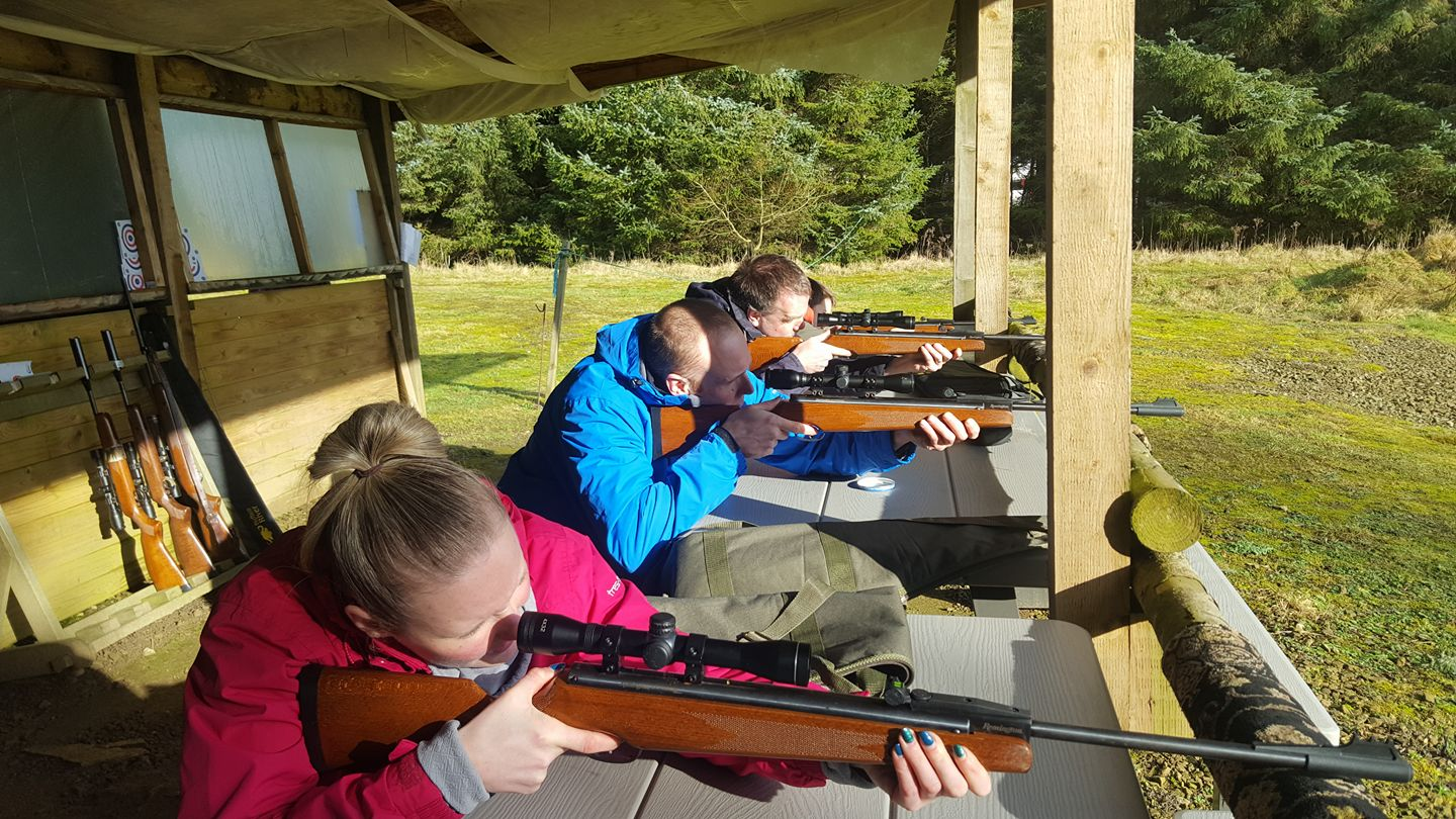 Group on rifles